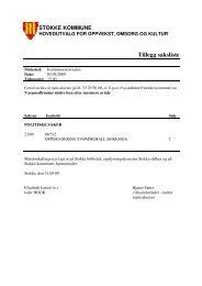 Tillegg saksliste - Stokke kommune