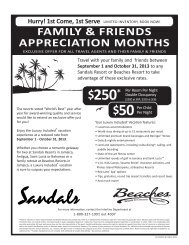 Download Sandals & Beaches Resorts Friends ... - spoiled agent