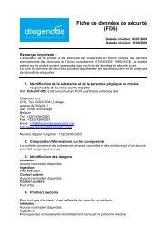 Fiche de données de sécurité (FDS) - Diagenode