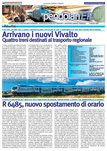 Newsletter del 07/03/2007 - Mobilità - Regione Emilia-Romagna