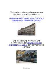 Vierte polnisch-deutsche Begegnung von Studierenden und ...