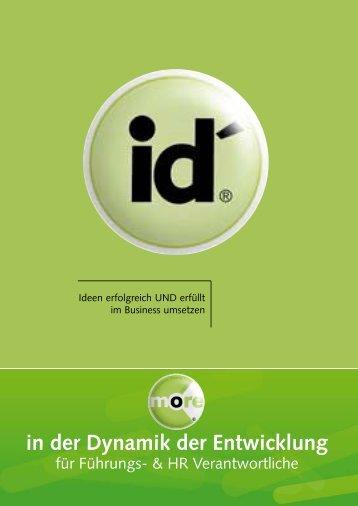 in der Dynamik der Entwicklung - Id´ Institute Consulting GmbH