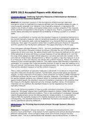 BSPS 2013 Accepted Papers with Abstracts - College of Social ...