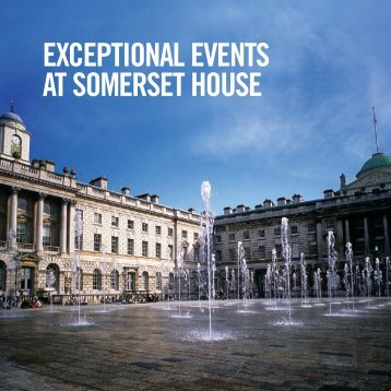to download the events brochure - Somerset House