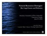 Natural Resources Damages: - American Association of Port ...