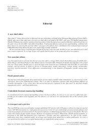 Editorial - European Journal of Mineralogy
