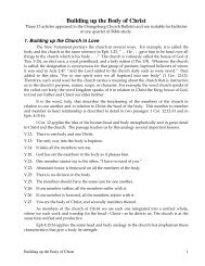 Building up the Body of Christ - Gospel Lessons