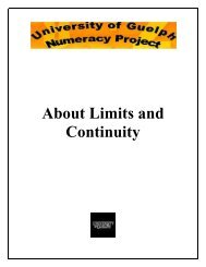 About Limits and Continuity - Atrium