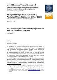 Briefpapier SW - European Security Conference Initiative