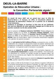 Communiqué de presse - Deuil-la-Barre