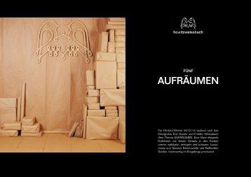 AUFRÄUMEN - howitzweissbach