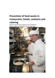 Prevention of food waste in restaurants, hotels ... - Ny Nordisk Mat