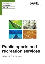 Public sports and recreation services - Audit Commission