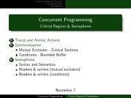 Concurrent Programming - Critical Regions & Semaphores