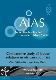 Comparative study of labour relations in African countries - AIAS