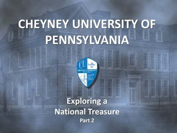 The Institute for Colored Youth - Cheyney University of Pennsylvania