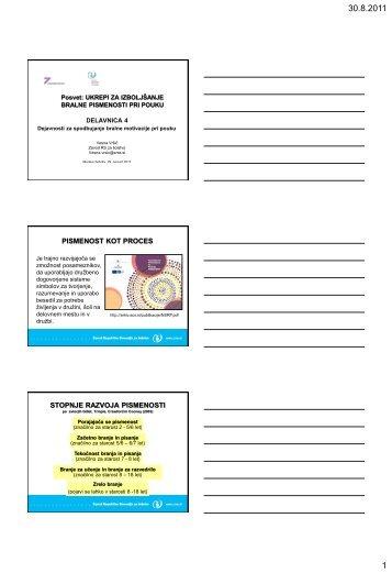 Dejavnosti za spodbujanje bralne motivacije učencev pri pouku ...