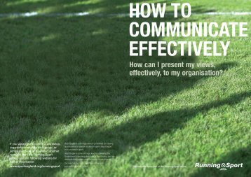 HOW TO COMMUNICATE EFFECTIVELY - Scottish Student Sport