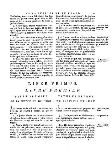 LIBER P R I M U S. LIVRE PREMIER - Histoire du droit