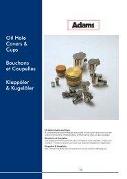 Oil Hole Covers & Cups Bouchons et Coupelles Klappöler & Kugelöler