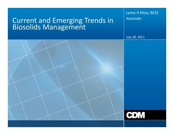 Current and Emerging Trends in Bi lid M t Biosolids Management