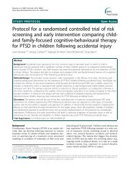 Protocol for a randomised controlled trial of risk ... - BioMed Central