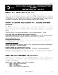 Digital Technology Skill Assessment Test - AT&T
