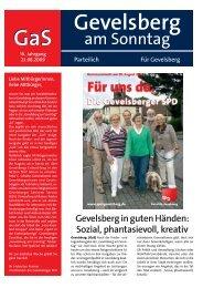 Ausgabe 23.08.09 - Hilfe und Info