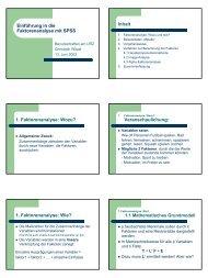 Einführung in die Faktorenanalyse mit SPSS Inhalt 1 ... - Urz
