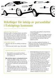 Riktlinjer för inköp av personbilar - Enköping