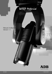 WARP Motorisé - ADB Lighting Technologies