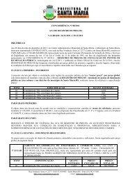 CONCORRÊNCIA Nº 08/2011 - Prefeitura Municipal de Santa Maria