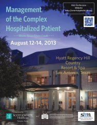 Management of the Complex Hospitalized Patient - Healthcare ...