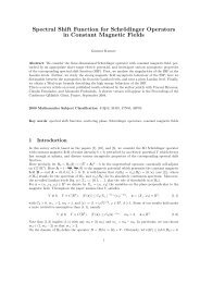 Spectral Shift Function for Schrödinger Operators in Constant ...