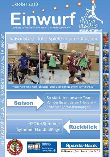 Die Sythener Handballtage 2010 - HSC Haltern-Sythen 1992 e. V.