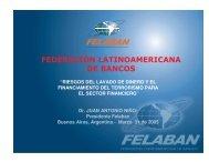 FEDERACION LATINOAMERICANA DE BANCOS - Felaban