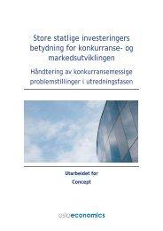 Store statlige investeringers betydning for ... - Concept - NTNU