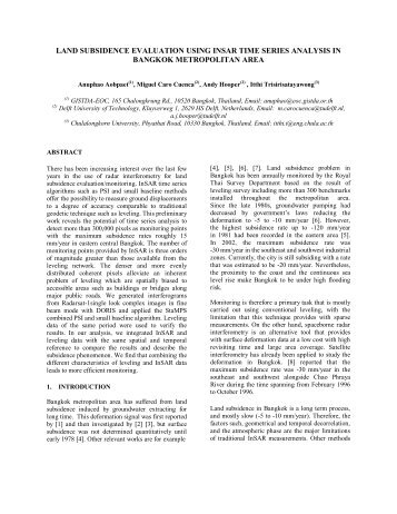 land subsidence evaluation using insar time series analysis in ...