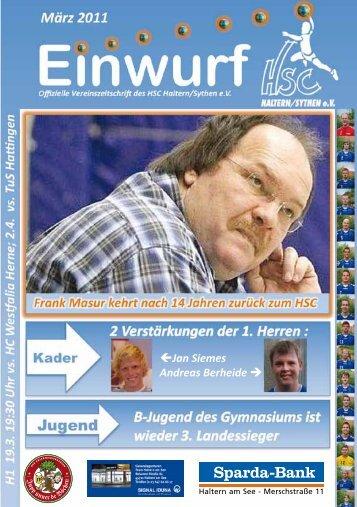 März 2011 H1 19.3. 19:30 Uhr vs. HC W es!alia Herne