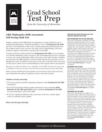 Test Prep - University of Minnesota