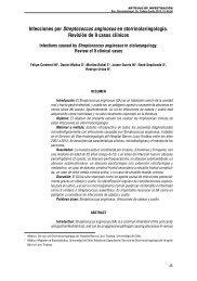 Infecciones por Streptococcus anginosus en otorrinolaringología ...