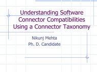 Understanding Software Connector Compatibilities Using a ...