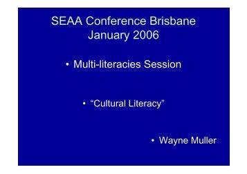 SEAA Conference Brisbane January 2006 - afssse