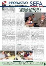 Informativo nº 159 - Dezembro - Sefa