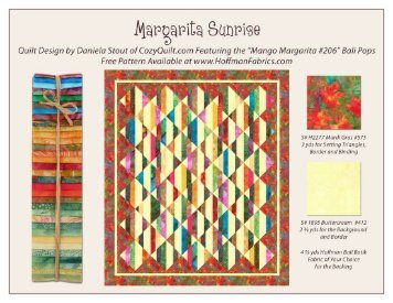 Margarita Sunrise Pattern - Hoffman California Fabrics
