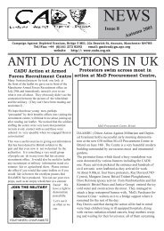 CADU News 8 - Campaign Against Depleted Uranium