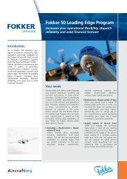 Leaflet Fokker 50 Leading Edge Program [PDF ... - Fokker Services