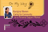 On My Way, Aboriginal Women Caring for Community - Native ...