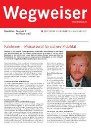 Wegweiser - Deutsche Fahrlehrer-Akademie eV