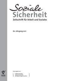 Zeitschrift für Arbeit und Soziales - Bund-Verlag GmbH